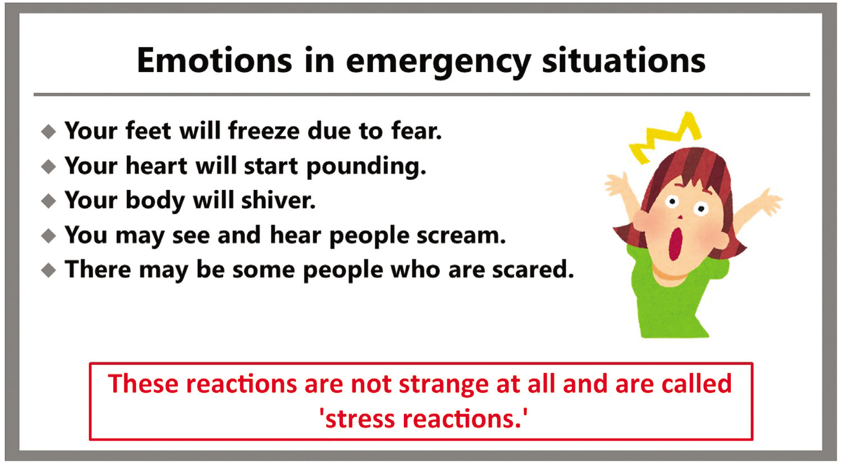 Figure 2 One of the slides from the second part of the presentation, titled 'Explaining emotional reactions'